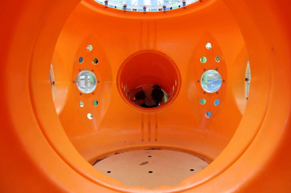 となみ公園ポータル 太郎丸ウエストパーク 複合遊具 宇宙船の中