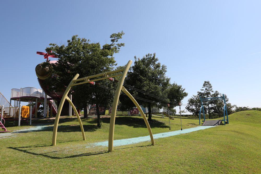 となみ公園ポータル 砺波総合運動公園(風の丘公園) ターザンロープ