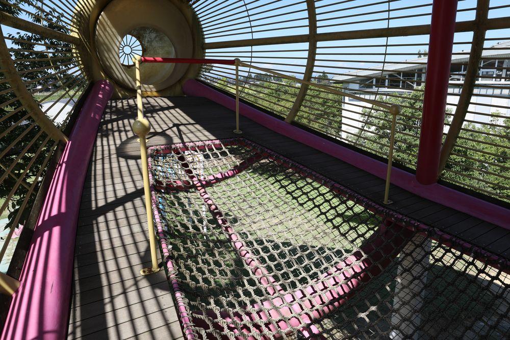 となみ公園ポータル 砺波総合運動公園(風の丘公園) 複合遊具2階ネット
