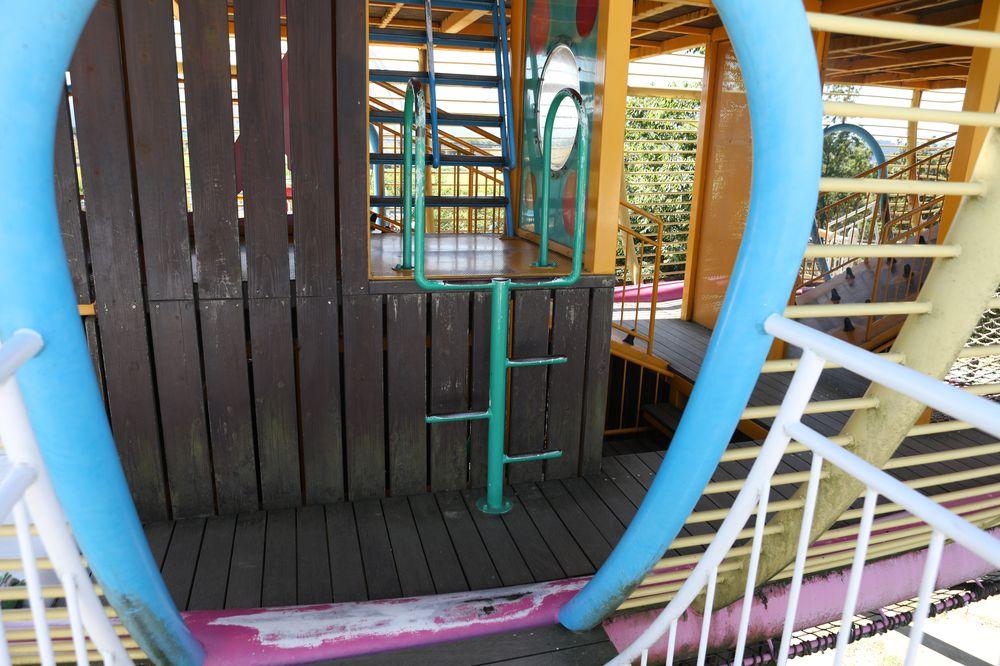 となみ公園ポータル 砺波総合運動公園(風の丘公園) 複合遊具3階へのはしご