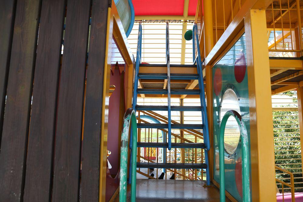 となみ公園ポータル 砺波総合運動公園(風の丘公園) 複合遊具3階への階段