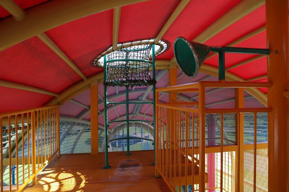となみ公園ポータル 砺波総合運動公園(風の丘公園) 複合遊具展望台へのはしご